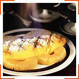 Пылающий омлет на ананасах