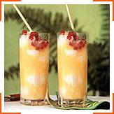 Коктейль з апельсинового соку та морозива