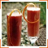 Малиново-апельсиновое молоко