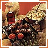Шашлик з рисом по-балканськи