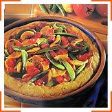 Кукурядзяно-овочевий пирог