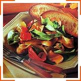 Салат з овочів на грилі
