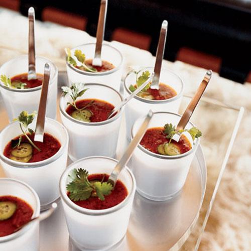 Гаспачо c овощами-гриль