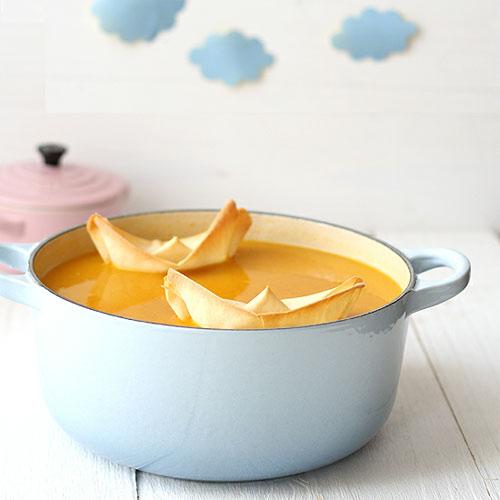 Холодный суп со сквошем и карри