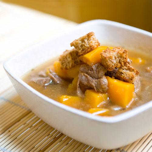 Суп со сквошем и говядиной