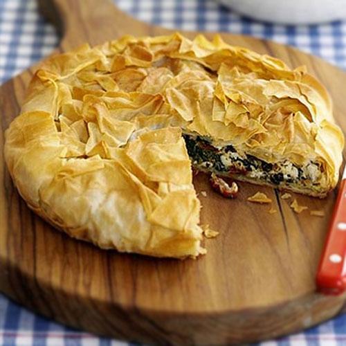 Хрусткий пиріг у грецькому стилі