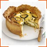 Пирог из кабачков и козьего сыра