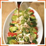 Курячий салат з кунжутною олією