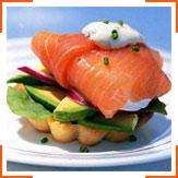 Яйца-пашот с лососем