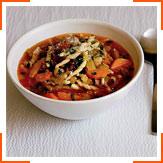Суп с беконом, фасолью и пастой