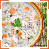 Курячий суп з рисом