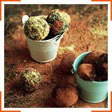 Шоколадно-финиковые трюфеля с корицей