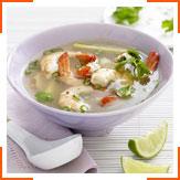 Пряный суп с креветками