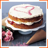 Полунично-ванільний торт