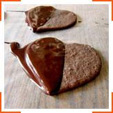 "Шоколадне печиво з корицею ""Серце"""