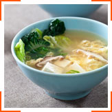 Суп мисо с тофу и грибами