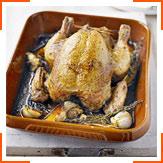 Запеченная курица с перцем чили и травами