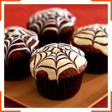 Шоколадні мафіни з павутинкою