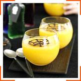 Апельсинове желе з шоколадними павутинками