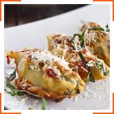 Паста, фаршированная сыром и шпинатом