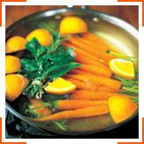 Морква з чебрецем, зірою і апельсиновим вершковим маслом