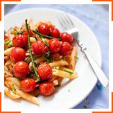 Пенне з запеченими помідорами-черрі