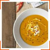 Суп із сквоша, чілі і крем-фреш