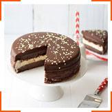 Шоколадно-ванильный замороженный торт