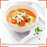 Суп мисо с курицей и рисом
