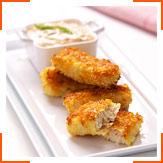 Рыбные палочки с соусом Тартар