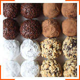 Шоколадно-арахисовые трюфели