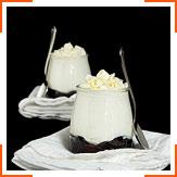 Сливочное парфе с белым шоколадом и черникой