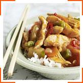 Курица с овощами в сладко-кислом соусе