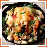 Курица, запеченная с овощами, горчицей и эстрагоном