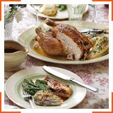 Запеченная курица с тушеным цикорием и эстрагоновым соусом