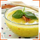 Пряный суп из дыни с прошутто