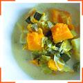 Суп с тыквой и луком-порей