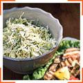 Салат з капусти з вершковою заправкою із кінзи та лайму