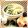 Овощи с цикорием в сливочном соусе