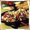 Салат из шампиньонов и салатного цикория