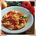 Сырные тортеллини  с томатным соусом