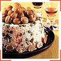 Рагу из шампиньонов с рисовым гарниром