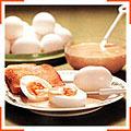 Холодные яйца с горчичным кремом