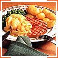 Антрекот-гріль із шинки з яєчнею