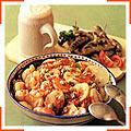 Картофель-гриль с перцем и сосисками