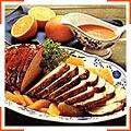 Печеня з телятини під апельсиновим соусом