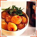 Печеные луковицы  в бальзамическом уксусе