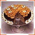 Мандарино-ореховый торт