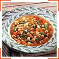 Суп из диталини и овощами