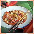 Китайский салат с макаронами и курицей